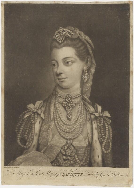 Sophia Charlotte of Mecklenburg-Strelitz, after Thomas Frye, (1762) - NPG D8011 - © National Portrait Gallery, London