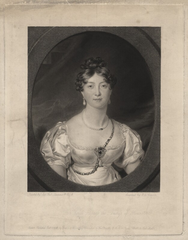 Princess Mary, Duchess of Gloucester, by Joseph Epenetus Coombs, after  Sir Thomas Lawrence, published 1 October 1841 - NPG D8018 - © National Portrait Gallery, London