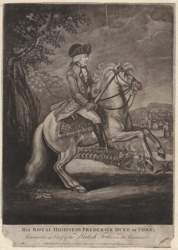 Frederick, Duke of York and Albany, after Unknown artist, 1794 - NPG D8025 - © National Portrait Gallery, London