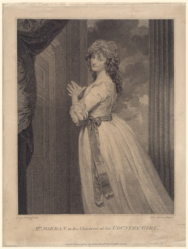 Dorothy Jordan, by John Ogborne, after  George Romney, published 24 June 1788 - NPG D8046 - © National Portrait Gallery, London
