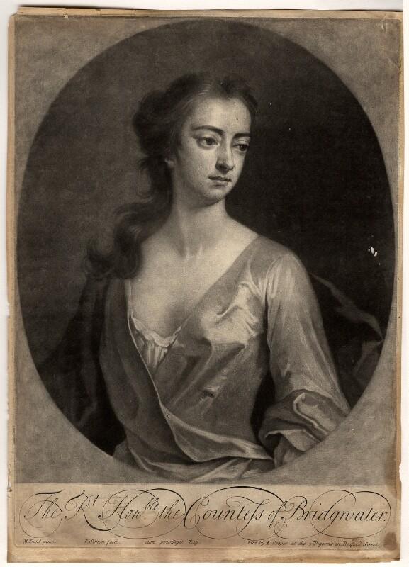 Elizabeth Egerton (née Churchill), Countess of Bridgewater, by John Simon, sold by  Edward Cooper, after  Michael Dahl, 1703 or after - NPG D807 - © National Portrait Gallery, London