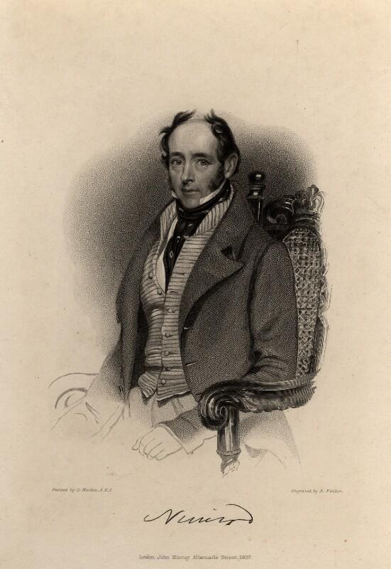 Charles James Apperley, by Edward Francis Finden, published by  John Samuel Murray, after  Daniel Maclise, published 1837 - NPG D8077 - © National Portrait Gallery, London