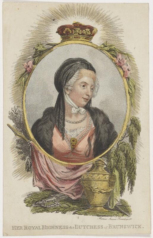 Princess Augusta Charlotte, Duchess of Brunswick-Wolfenbüttell, by Marie Anne Bourlier, early 19th century - NPG D8092 - © National Portrait Gallery, London