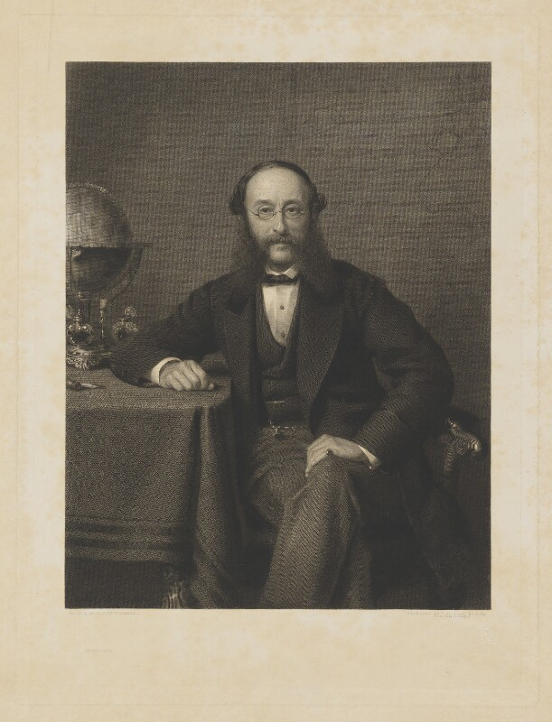 (Paul) Julius de Reuter, Baron de Reuter (né Israel Beer Josaphat), by Thomas Oldham Barlow, after  (Wilhelm Augustus) Rudolf Lehmann, circa 1880 - NPG D8103 - © National Portrait Gallery, London