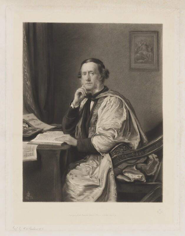 Sir William Sterndale Bennett, by Thomas Oldham Barlow, after  Sir John Everett Millais, 1st Bt, late 19th century - NPG D8104 - © National Portrait Gallery, London