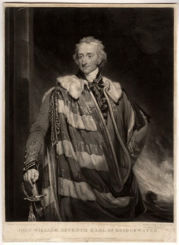 John William Egerton, 7th Earl of Bridgewater, by Samuel William Reynolds, after  William Owen, published 1825 - NPG D811 - © National Portrait Gallery, London