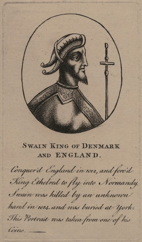 Sweyn Forkbeard, King of Denmark, Norway and England, after Unknown artist, late 18th-early 19th century - NPG D8112 - © National Portrait Gallery, London