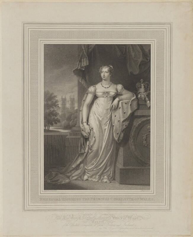 Princess Charlotte Augusta of Wales, by John Samuel Agar, published by  Colnaghi & Co, after  Charlotte Jones, published 21 March 1814 - NPG D8141 - © National Portrait Gallery, London