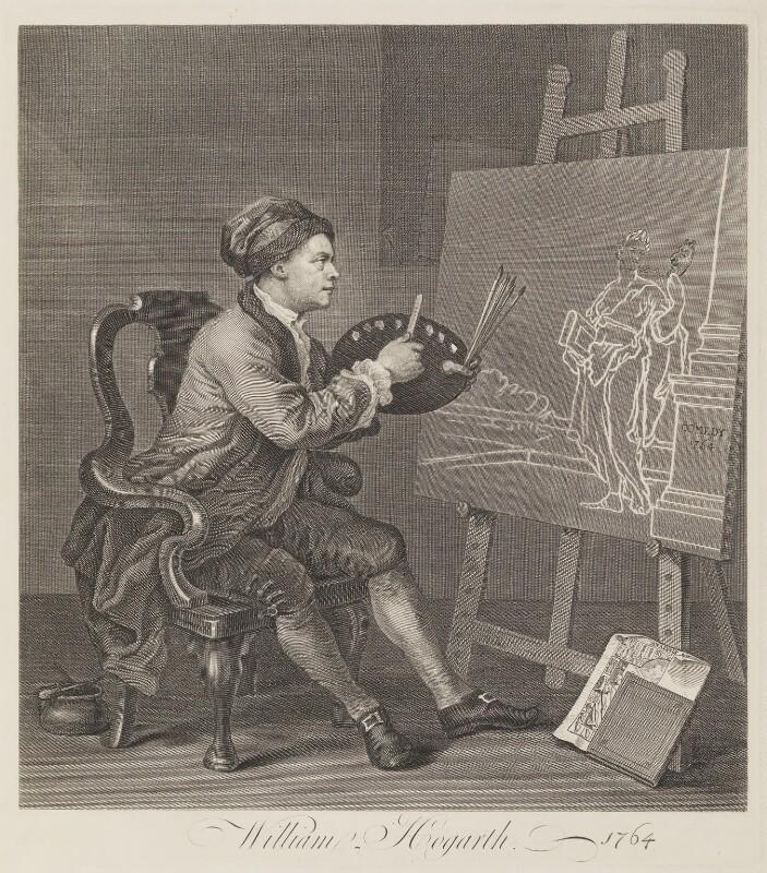 William Hogarth, by William Hogarth, 1764 (1757) - NPG D8195 - © National Portrait Gallery, London
