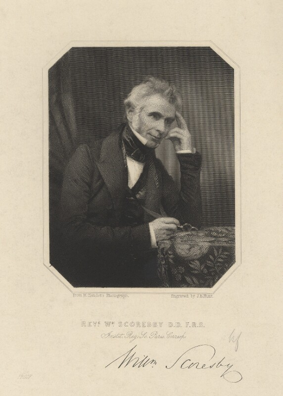 William Scoresby, by J.B. Hunt, after a photograph by  Antoine Claudet, 1850s - NPG D8235 - © National Portrait Gallery, London