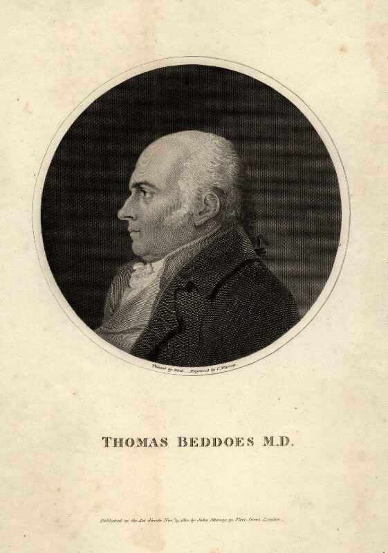 Thomas Beddoes, by Charles Warren, published by  John Samuel Murray, after  Edward Bird, published 1810 - NPG D8257 - © National Portrait Gallery, London