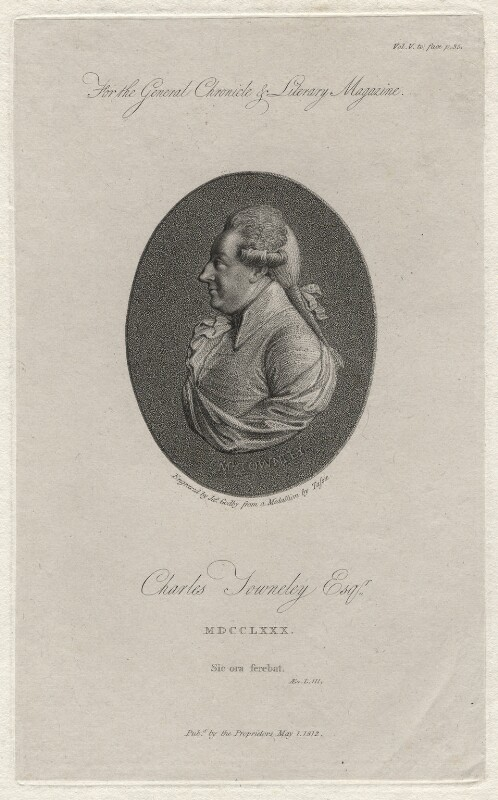 Charles Townley, by James Godby, after  James Tassie, published 1812 - NPG D8265 - © National Portrait Gallery, London