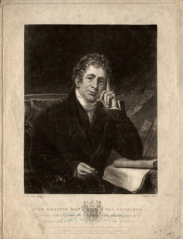 John Broster, by Thomas Hodgetts, published by  Archibald Constable & Co, published by  William Blackwood, published by  Hurst, Robinson & Co, after  John Syme, published 2 February 1825 - NPG D827 - © National Portrait Gallery, London