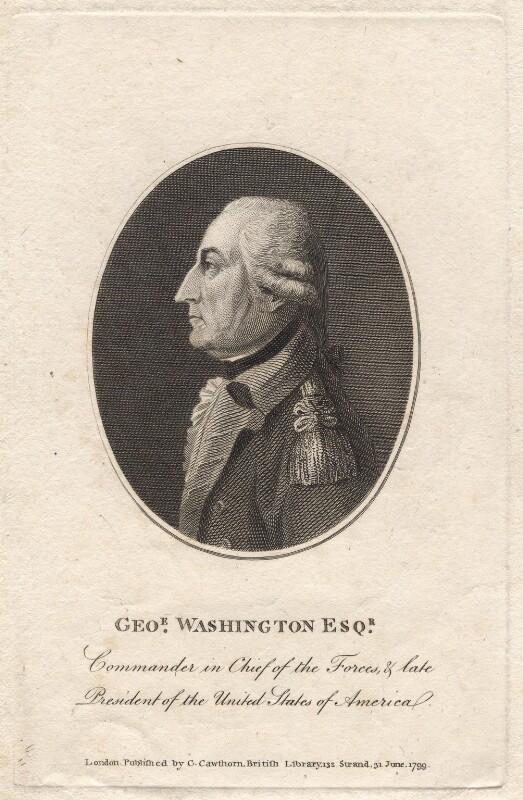 George Washington, published by George Cawthorn, published 31 June 1799 - NPG D8286 - © National Portrait Gallery, London