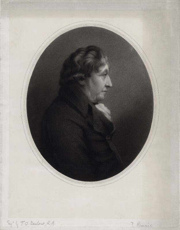 probably John Rennie Sr, by Thomas Oldham Barlow, after  Unknown artist,  - NPG D8292 - © National Portrait Gallery, London