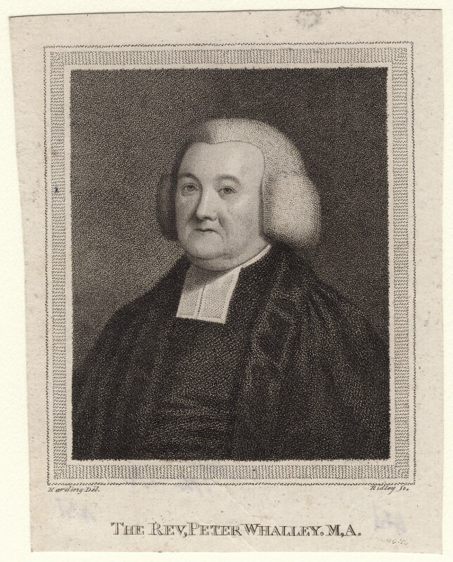 Peter Whalley, by William Ridley, after  Edward Harding, published 1791 - NPG D8297 - © National Portrait Gallery, London