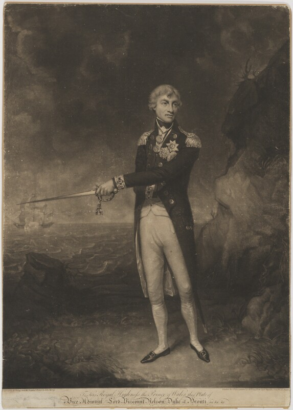 Horatio Nelson, by and published by John Young, after  John Rising, published 2 November 1801 - NPG D830 - © National Portrait Gallery, London