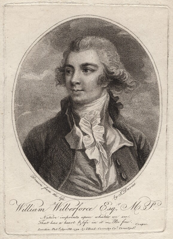 William Wilberforce, after J. Davies, published 1792 - NPG D8323 - © National Portrait Gallery, London