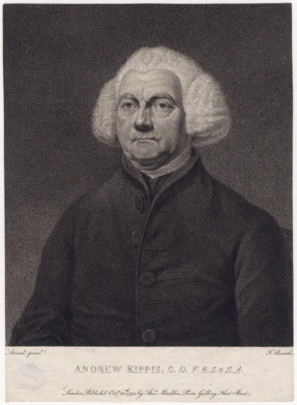 Andrew Kippis, by Francesco Bartolozzi, after  William Artaud, published 20 October 1792 - NPG D8360 - © National Portrait Gallery, London