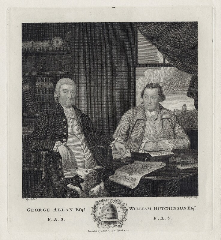 George Allan; William Hutchinson, by Joseph Collyer the Younger, after  J. Hay, published 1814 - NPG D8392 - © National Portrait Gallery, London
