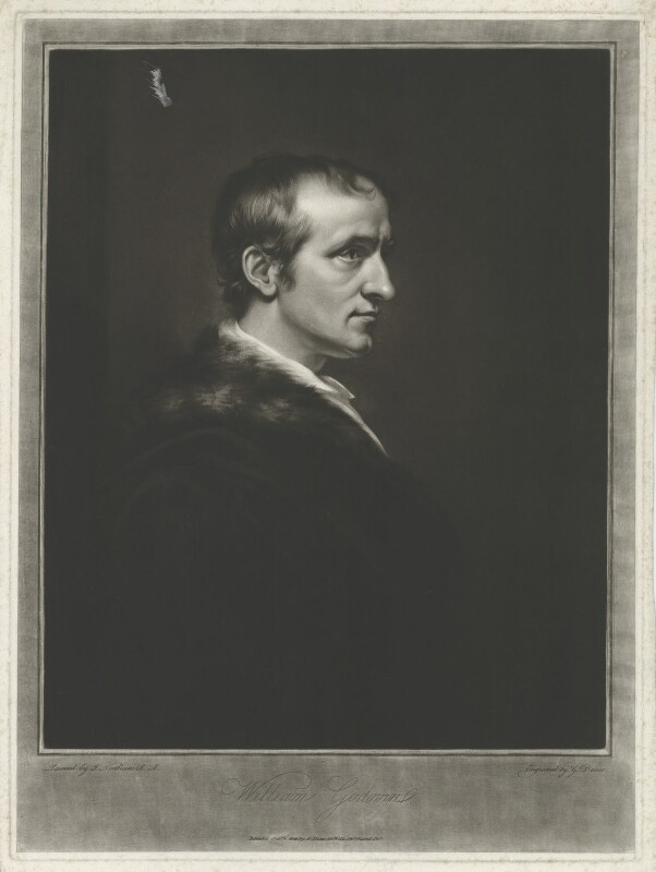 William Godwin, by and published by George Dawe, after  James Northcote, published 4 October 1802 (1802) - NPG D8414 - © National Portrait Gallery, London