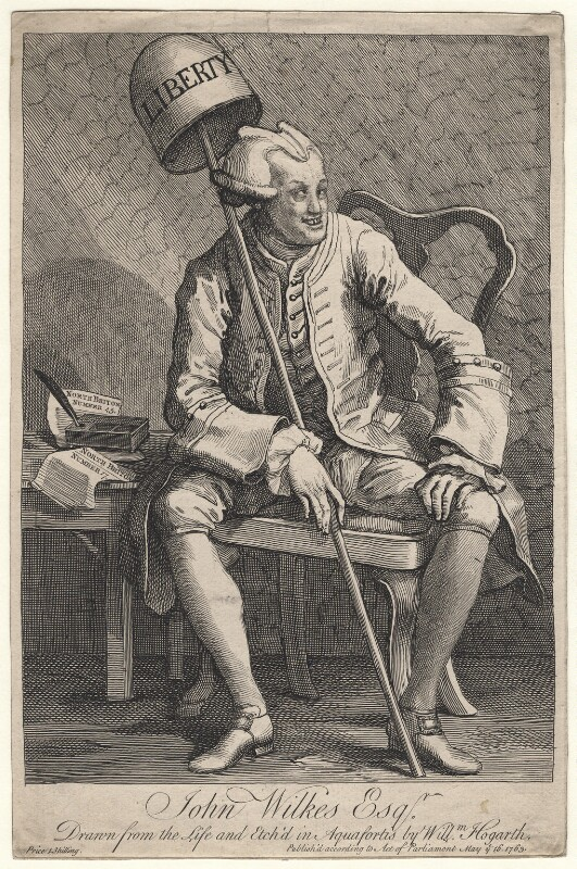 John Wilkes, by William Hogarth, published 16 May 1763 - NPG D8506 - © National Portrait Gallery, London