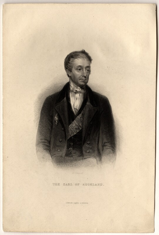 George Eden, Earl of Auckland, by George J. Stodart, after  Lowes Cato Dickinson, 1850 or after - NPG D8543 - © National Portrait Gallery, London