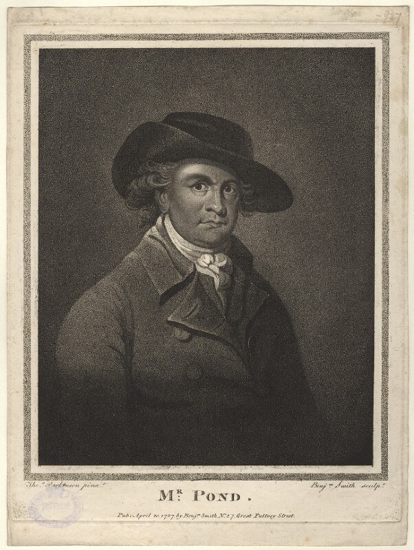 John Pond, by and published by Benjamin Smith, after  Thomas Parkinson, published 1787 - NPG D8563 - © National Portrait Gallery, London