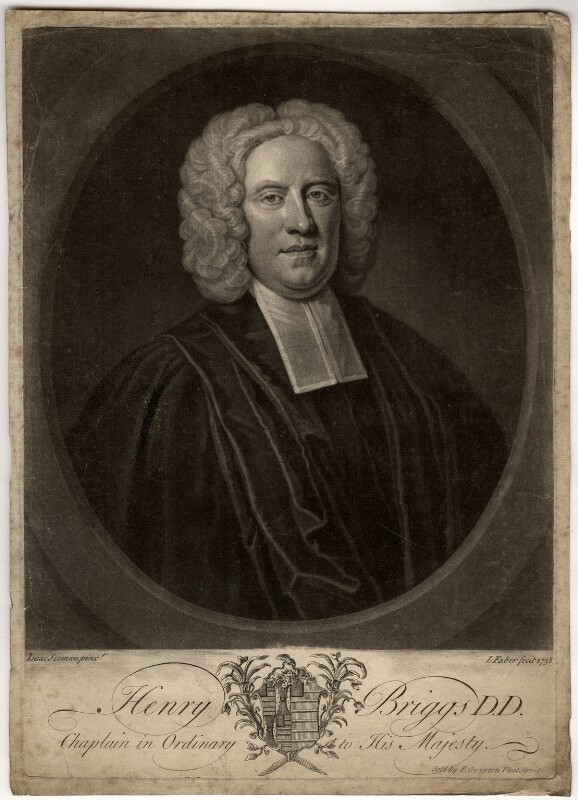 Henry Briggs, by John Faber Jr, after  Isaac Seeman, 1738 - NPG D859 - © National Portrait Gallery, London