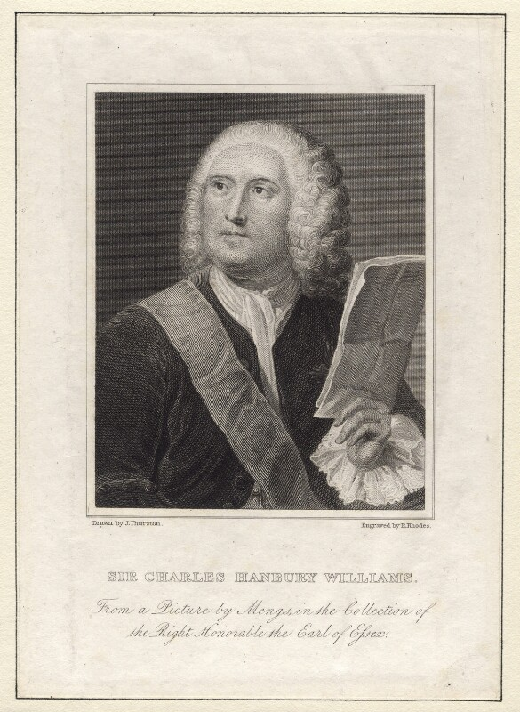 Sir Charles Hanbury Williams, by Richard Rhodes, after  Anton Raphael Mengs, circa 1820 - NPG D8593 - © National Portrait Gallery, London