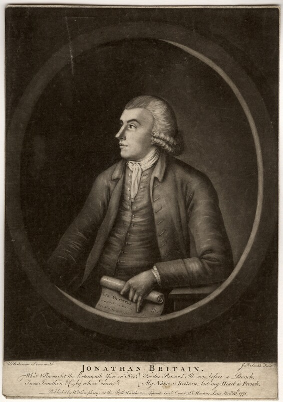Jonathan Britain, by John Raphael Smith, published by  William Humphrey, after  Thomas Parkinson, published 20 November 1771 - NPG D863 - © National Portrait Gallery, London