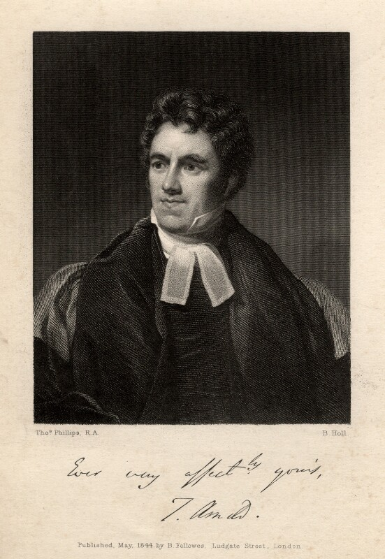 Thomas Arnold, by Benjamin Holl, after  Thomas Phillips, published 1844 - NPG D8740 - © National Portrait Gallery, London