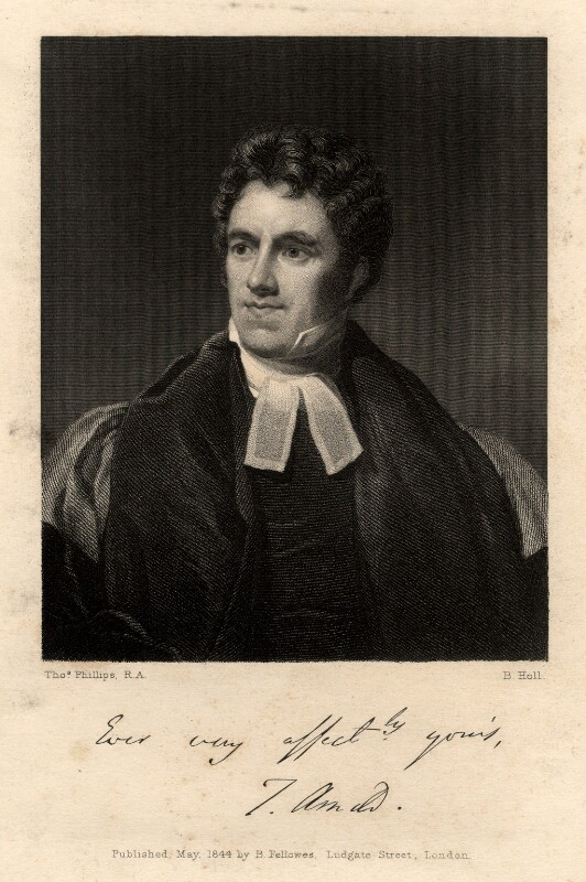 Thomas Arnold, by Benjamin Holl, after  Thomas Phillips, published 1844 - NPG D8741 - © National Portrait Gallery, London