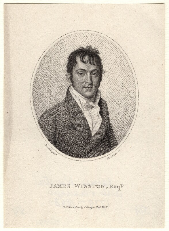James Winston, by Thomas Cheesman, published by  Clement Chapple, after  Samuel De Wilde, published 1 November 1807 - NPG D8751 - © National Portrait Gallery, London