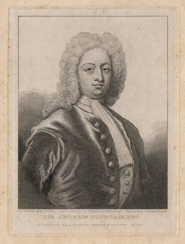 Sir Andrew Fountaine, by William Camden Edwards, after  Armstrong,  - NPG D8775 - © National Portrait Gallery, London