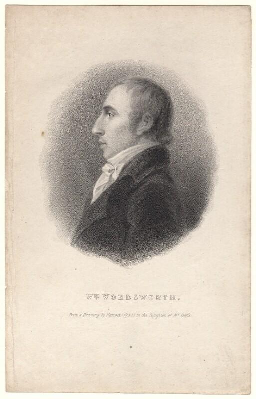 William Wordsworth, after Robert Hancock, (1798) - NPG D8809 - © National Portrait Gallery, London