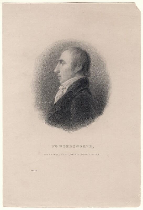 William Wordsworth, after Robert Hancock, (1798) - NPG D8811 - © National Portrait Gallery, London