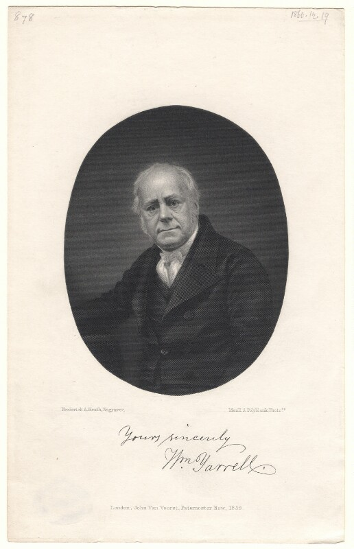 William Yarrell, by Frederick Augustus Heath, published by  John Van Voorst, after  Maull & Polyblank, published 1859 - NPG D8851 - © National Portrait Gallery, London