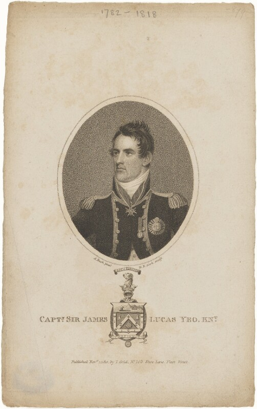 Sir James Lucas Yeo, by Henry Richard Cook, published by  Joyce Gold, after  Adam Buck, published 1 November 1810 - NPG D11012 - © National Portrait Gallery, London
