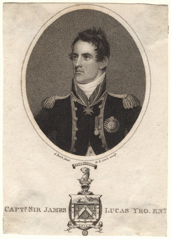 Sir James Lucas Yeo, by Henry Richard Cook, after  Adam Buck, published 1810 - NPG D8854 - © National Portrait Gallery, London