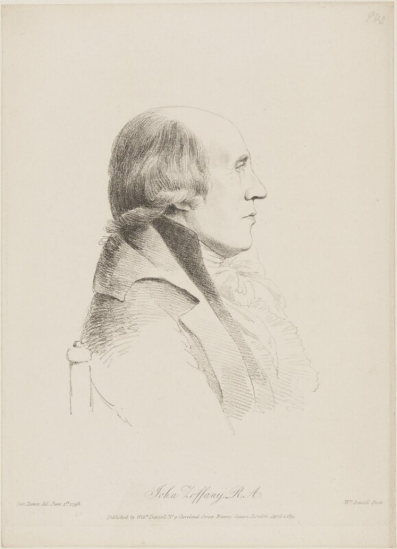 Johan Joseph Zoffany, by William Daniell, after  George Dance, published 2 April 1814 (1 June 1793) - NPG D8866 - © National Portrait Gallery, London