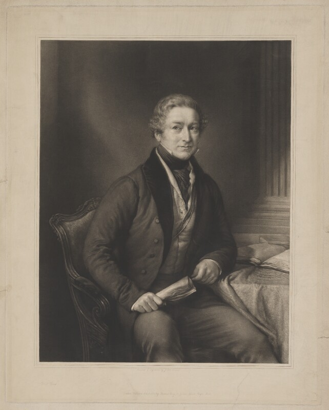 Sir Robert Peel, 2nd Bt, by John Linnell, published by  Thomas Boys, published 1838 - NPG D8878 - © National Portrait Gallery, London