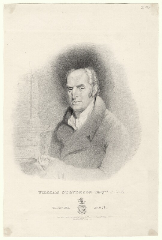 William Stevenson, by William Sharp, printed by  Day & Haghe, after  Horatio Beevor Love, after  William Hilton, 1821 or after - NPG D8972 - © National Portrait Gallery, London