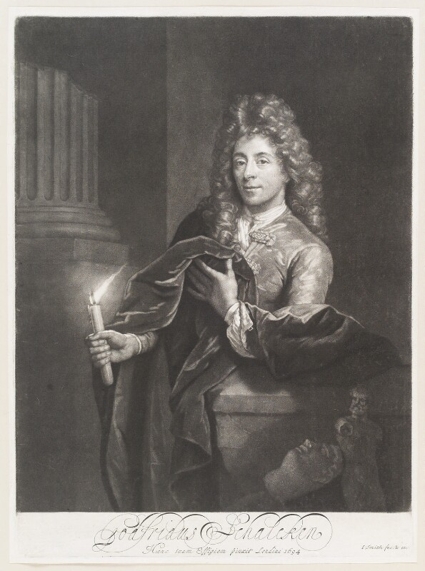 Godfried Schalcken, by and published by John Smith, after  Godfried Schalcken, 1694 (1694) - NPG D11495 - © National Portrait Gallery, London