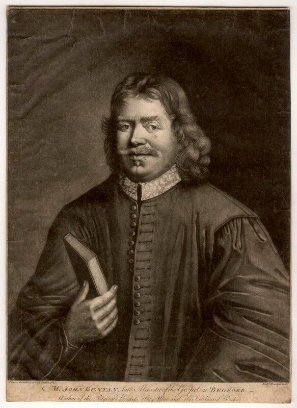 John Bunyan, by Richard Houston, after  Thomas Sadler, (1685) - NPG D915 - © National Portrait Gallery, London