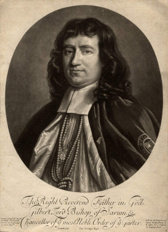 Gilbert Burnet, by John Smith, published by  Edward Cooper, published by  Richard Tompson, after  John Riley, 1690 (circa 1689-1691) - NPG D925 - © National Portrait Gallery, London