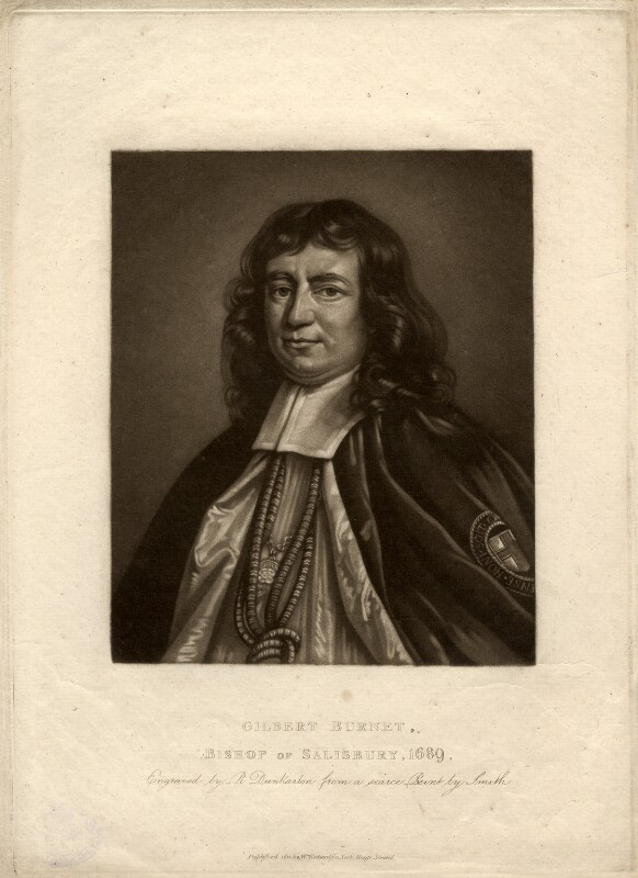 Gilbert Burnet, by Robert Dunkarton, after  John Riley, published 1812 - NPG D926 - © National Portrait Gallery, London