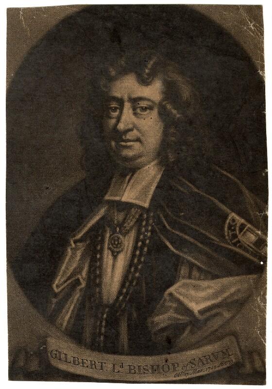 Gilbert Burnet, by John Simon, after  Sarah Hoadly, 1715 or after - NPG D928 - © National Portrait Gallery, London