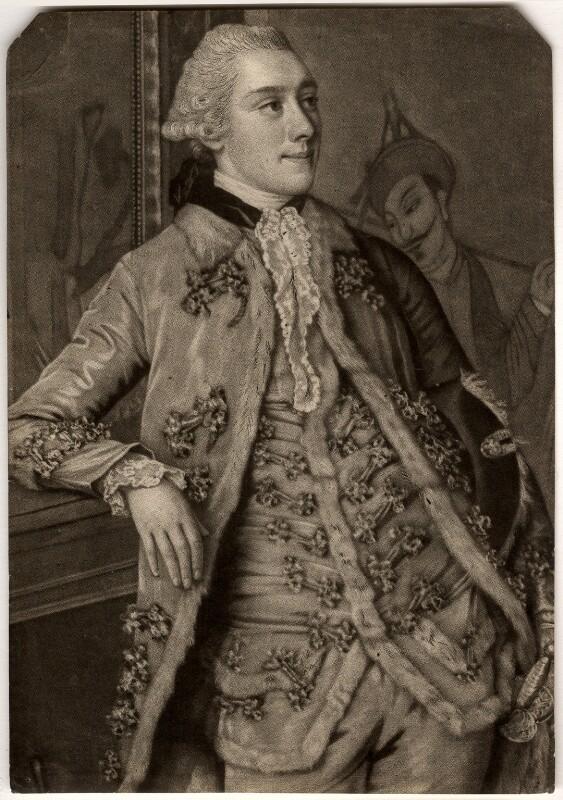 John Stuart, 1st Marquess of Bute, by John Raphael Smith, after  Jean Etienne Liotard, published 1774 - NPG D937 - © National Portrait Gallery, London