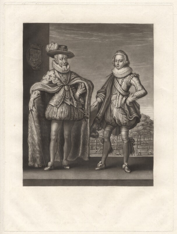 Christian IV, King of Denmark and Norway; Frederick III, King of Denmark, by Robert Dunkarton, published by  Samuel Woodburn, after  Willem de Passe, published 1814 - NPG D9550 - © National Portrait Gallery, London